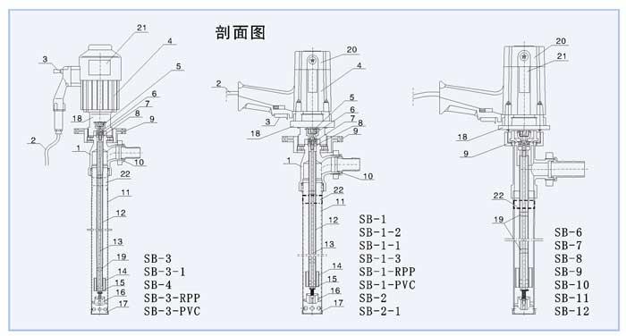 油桶泵结构图